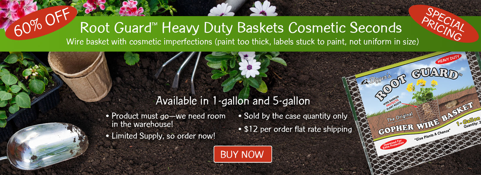Root Guard Heavy Duty Baskets Cosmetic Seconds
