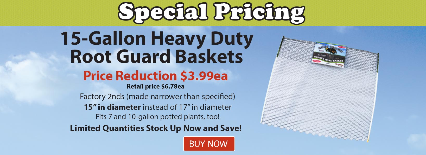 Root Guard Heavy Duty Baskets Special